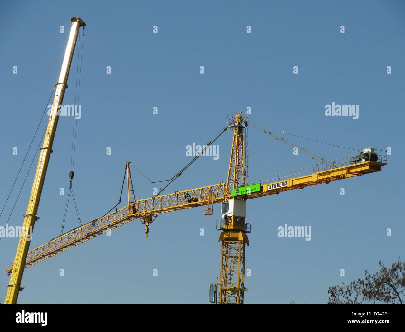 Liebherr Tower Crane Stock Photos & Liebherr Tower Crane