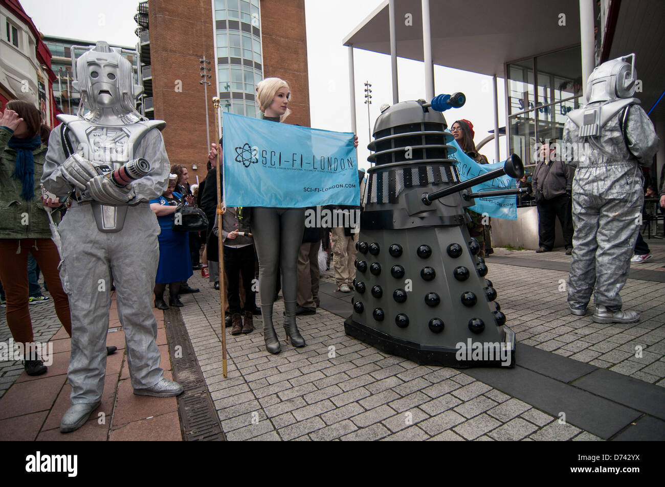 Stratford, London, UK, 28 April 2013.  Participants in the annual SCI-Fi-LONDON parade dress up as their favourite - Stock Image