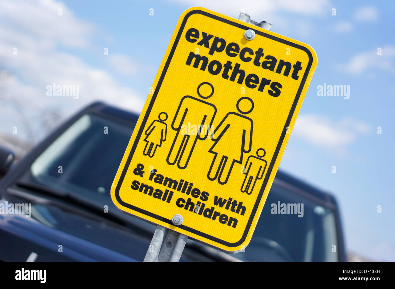 Parking Sign, Pregnant Expectant Mothers, Expecting - Stock Image