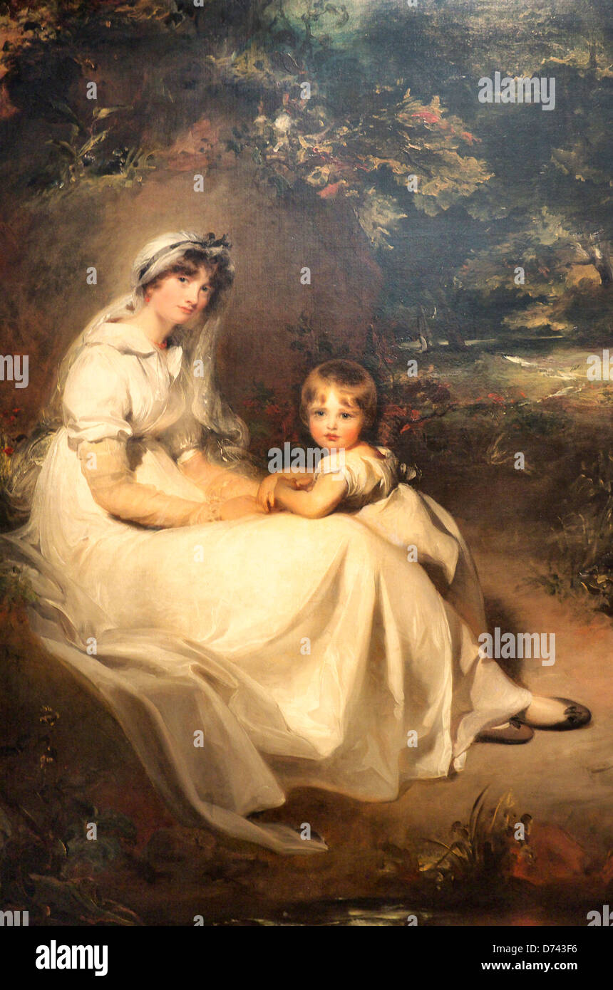 Lady Mary Templetown and her oldest son by Sir Thomas Lawrence - Stock Image