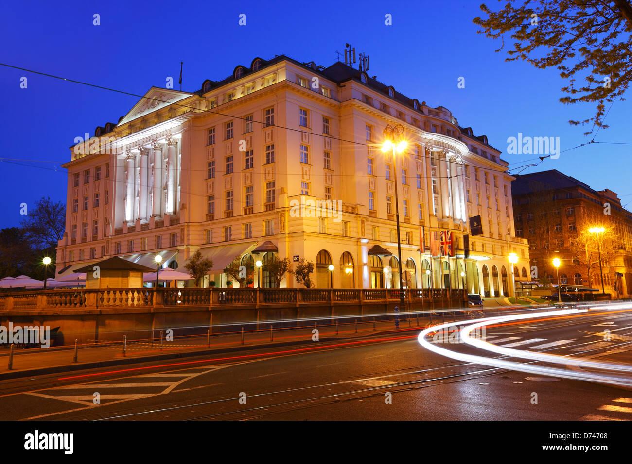 Zagreb hotel Esplanade - Stock Image