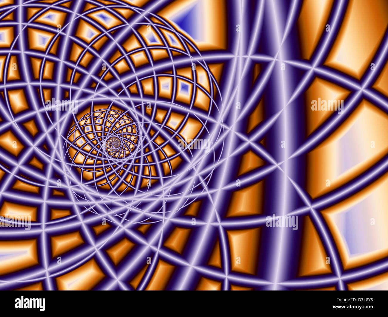 Fractal Wire Spiral Stock Photo