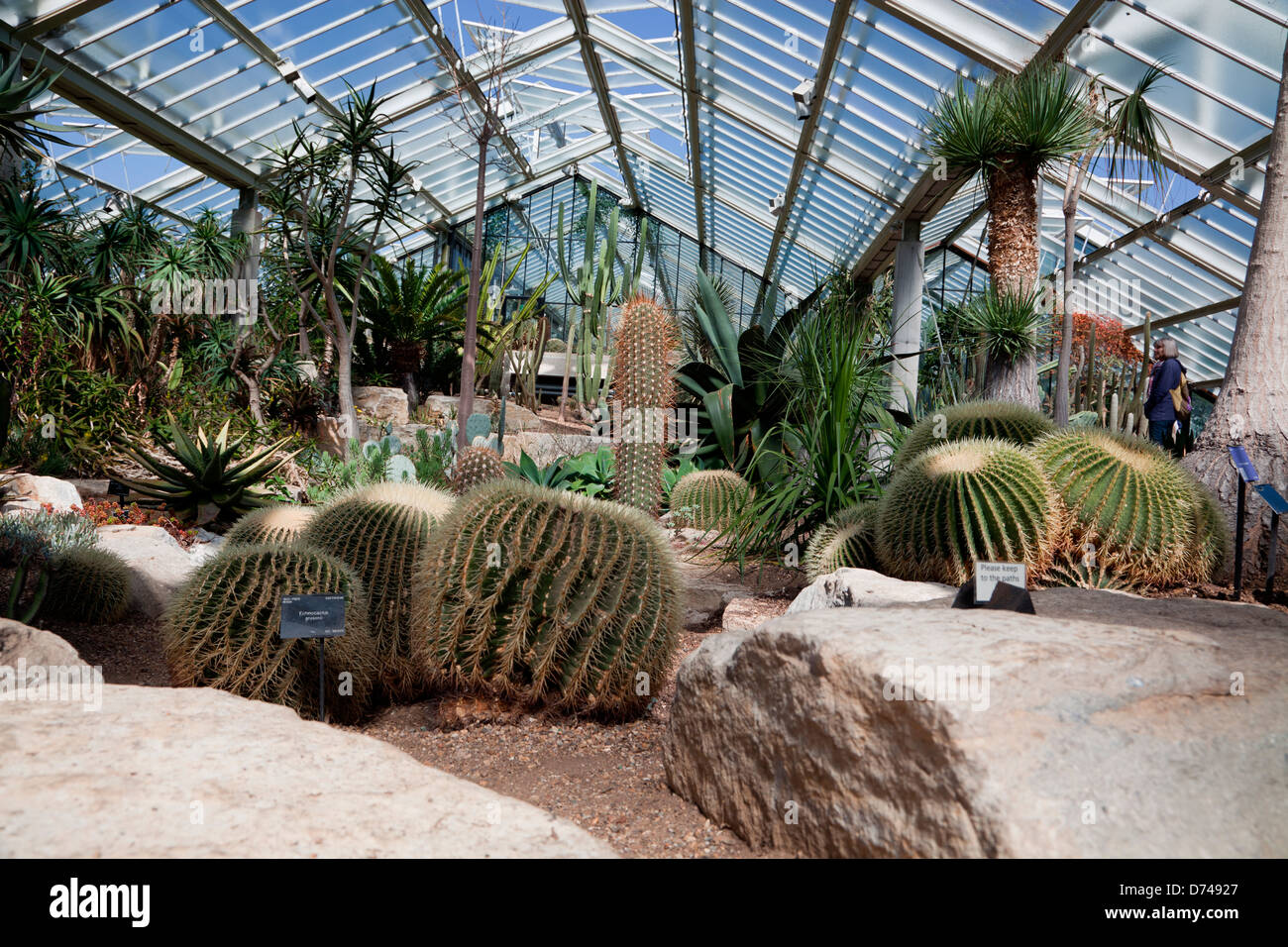 Princess of Wales Conservatory at Kew Gardens in London, UK - Stock Image