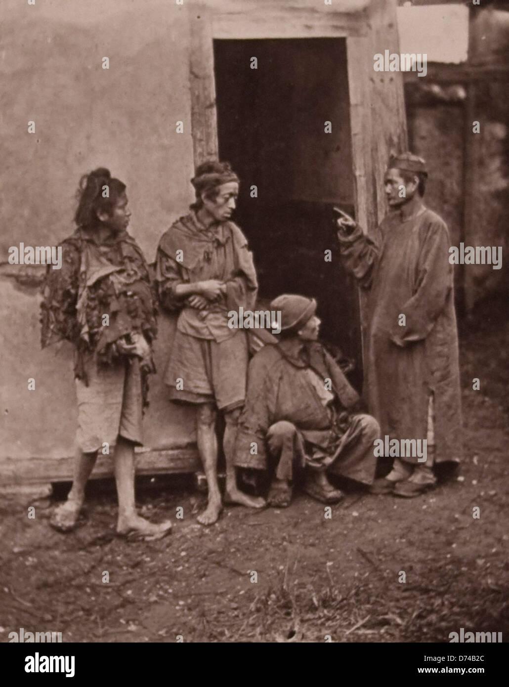 Beggars, Foochow Stock Photo