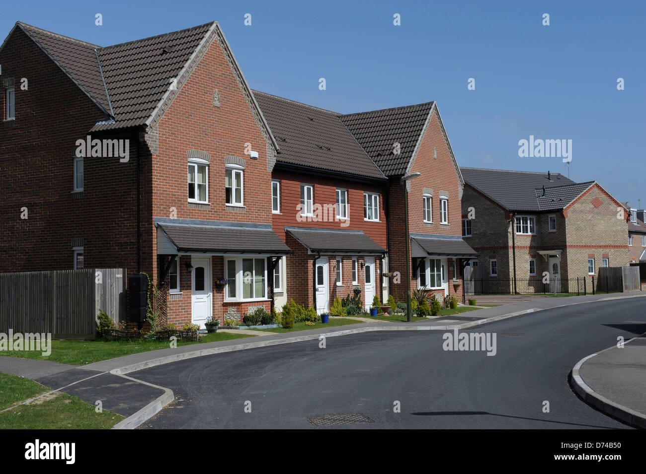 New build houses in Littlehampton West Sussex - Stock Image