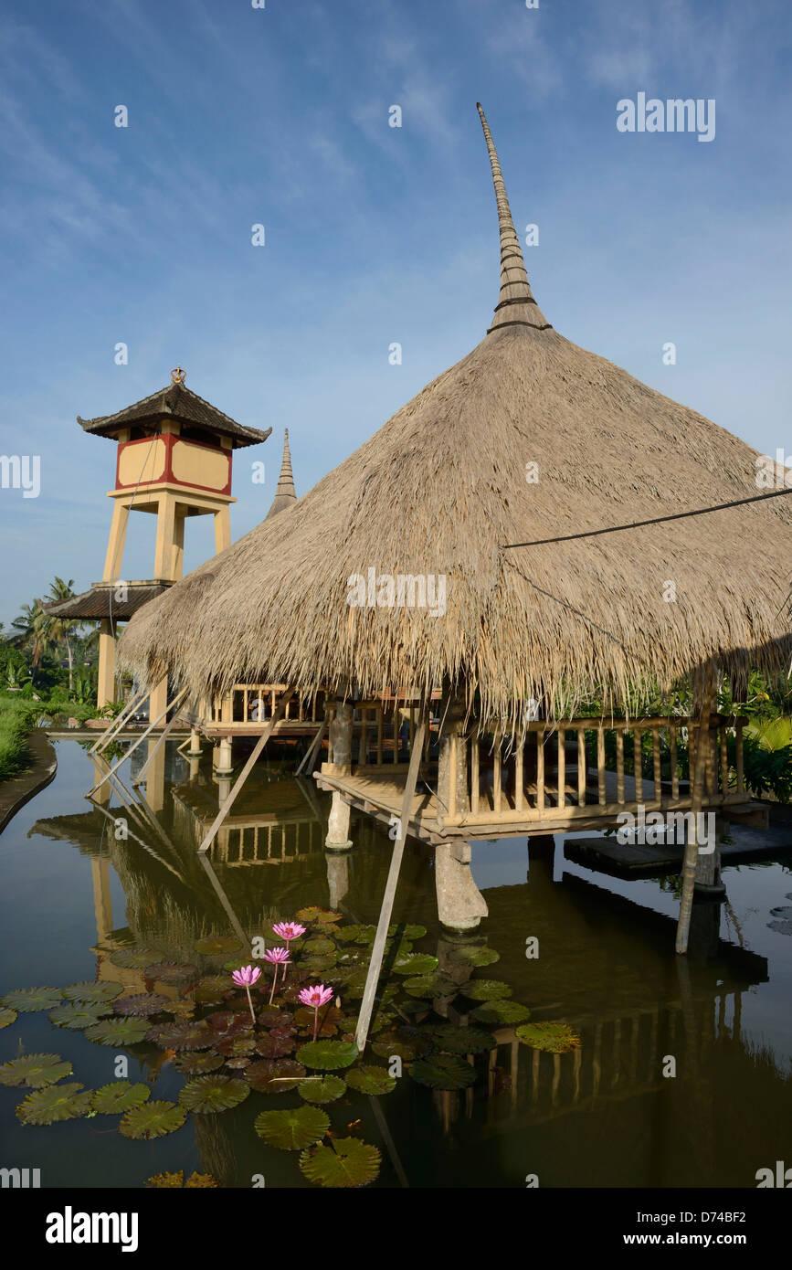 Indonesia Bali Ubud Village Of Artists Restaurant On Stilts Stock Photo Alamy