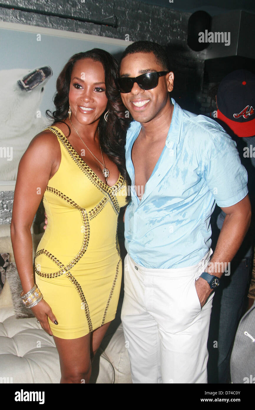 Vivica A. Fox and publicist B.J. Coleman B.J. Coleman's 31st birthday party at The Marcel Hotel's Polar - Stock Image