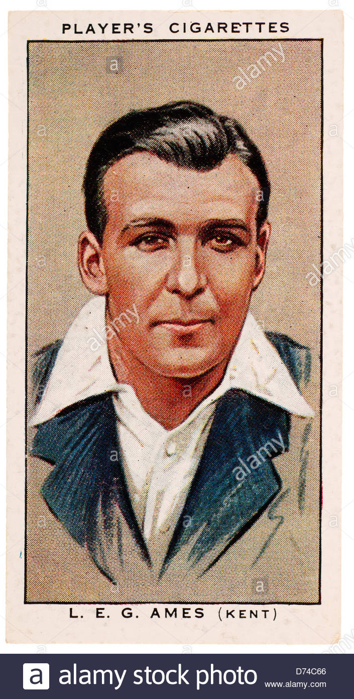 Leslie ('Les') Ethelbert George Ames CBE 1905 -1990 was a cricketer who played for Kent and England - Stock Image