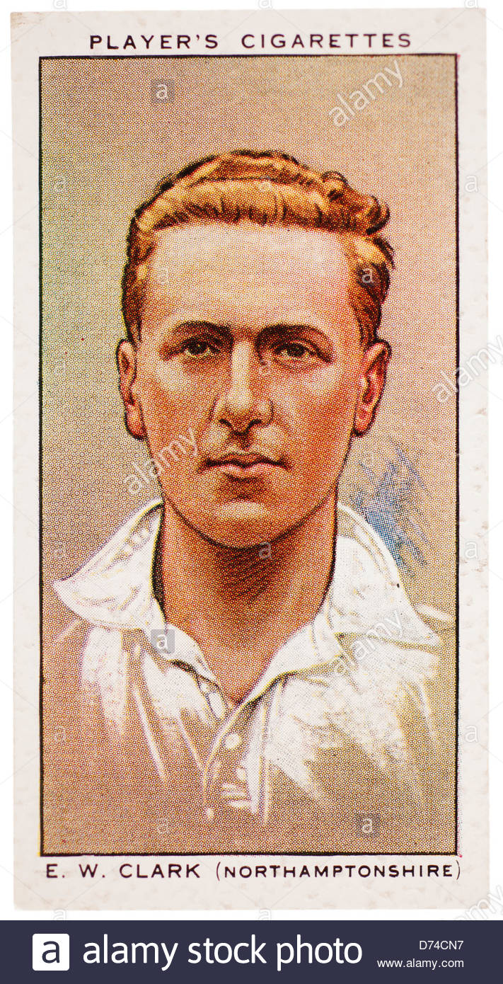 Edward Winchester 'Nobby' Clark 1902-1982 was a cricketer who played for Northamptonshire and England - Stock Image