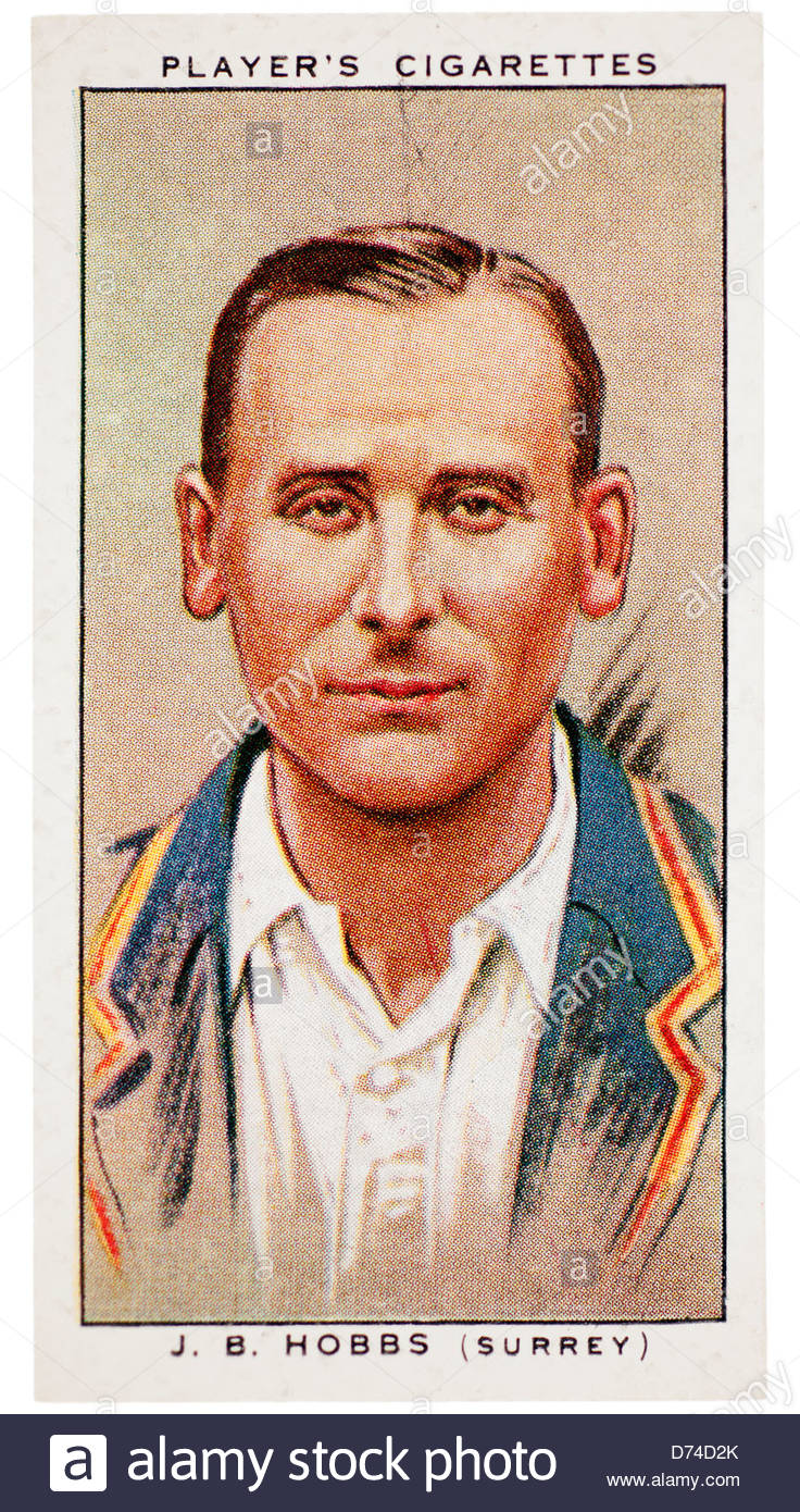 Sir John Berry 'Jack' Hobbs 1882-1963 was a cricketer who played for Surrey and England - Stock Image