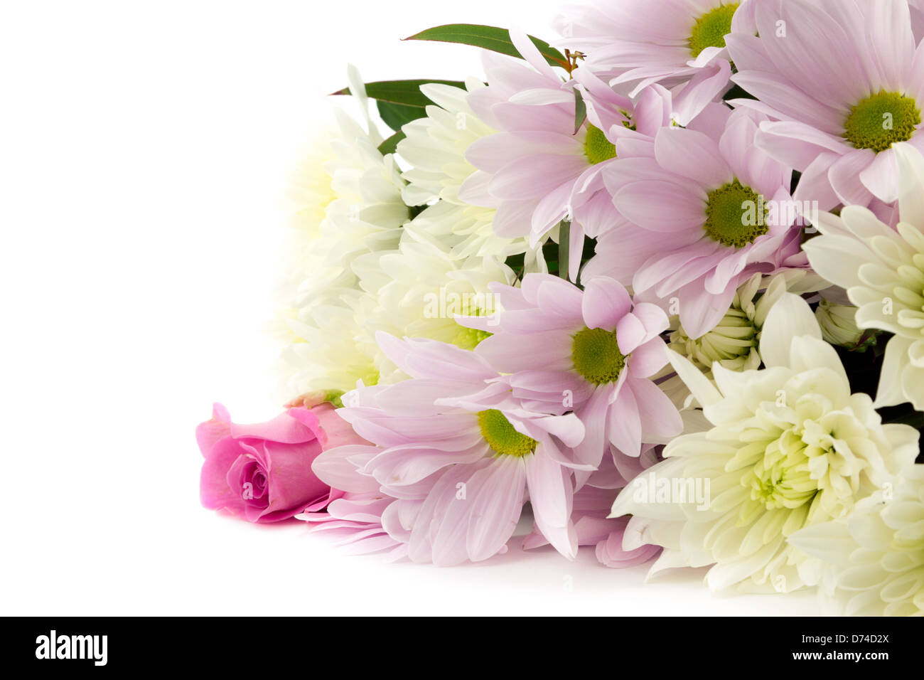 Pretty pastel pink bouquet. - Stock Image