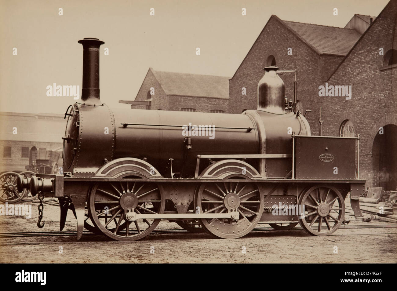 Madras Railway Engine - Stock Image