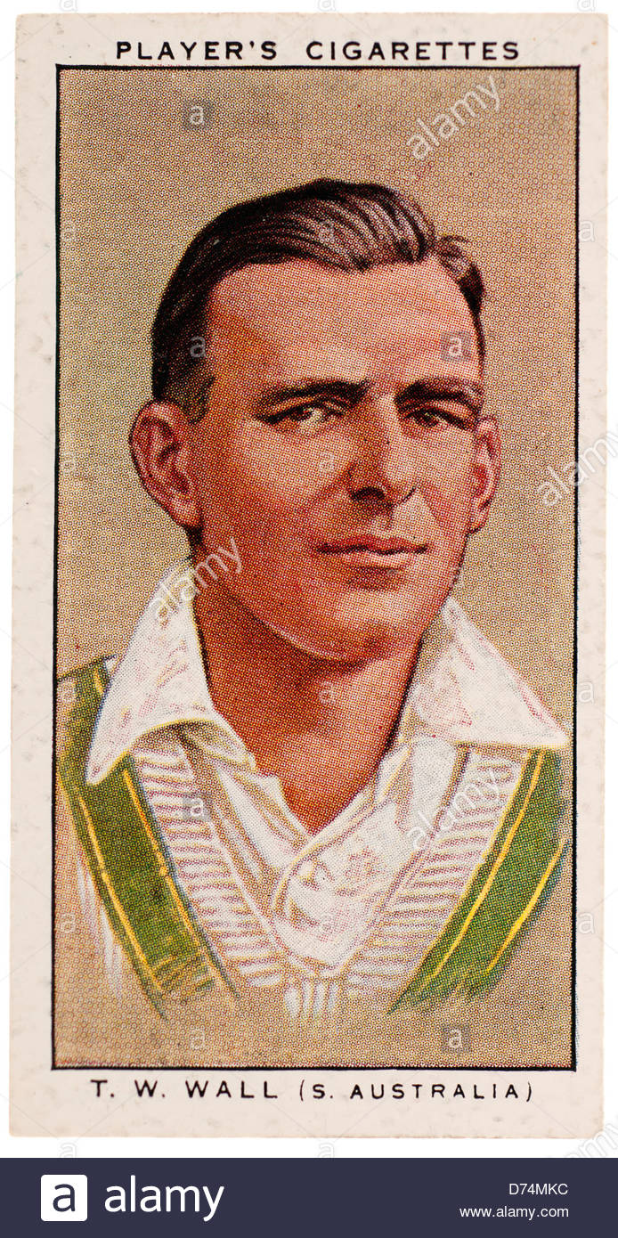 Thomas Welbourn 'Tim' Wall 1904,-1981 was a South Australian test cricketer. EDITORIAL ONLY - Stock Image