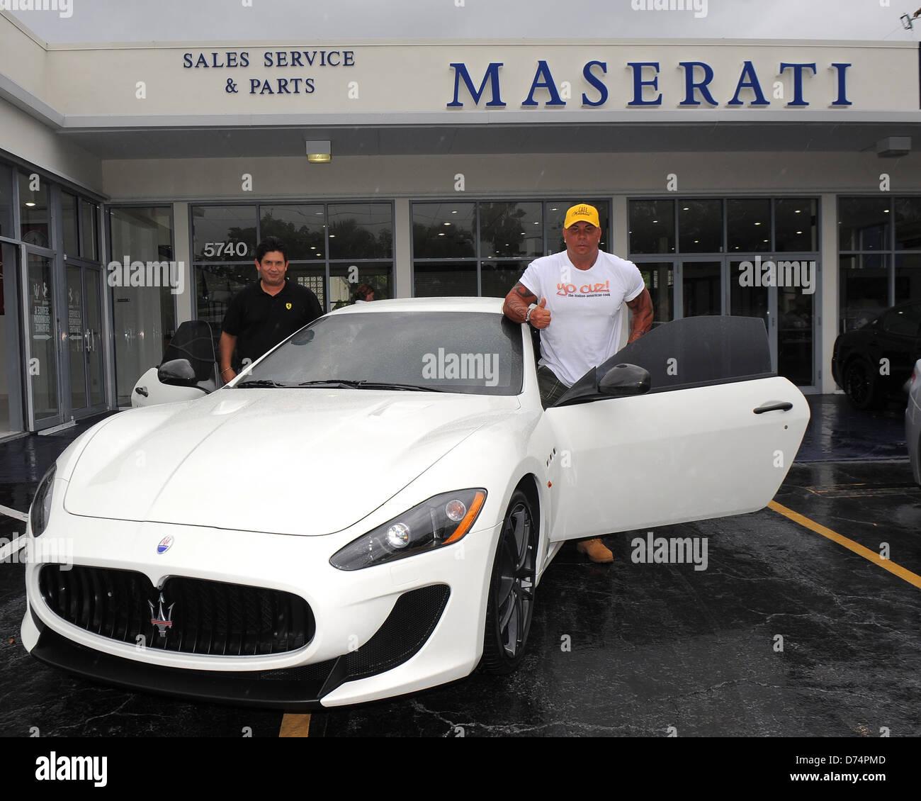 Steve Martorano Receives A Delivery Of His New Maserati Granturismo MC  Stradale At Ferrari Maserati Of