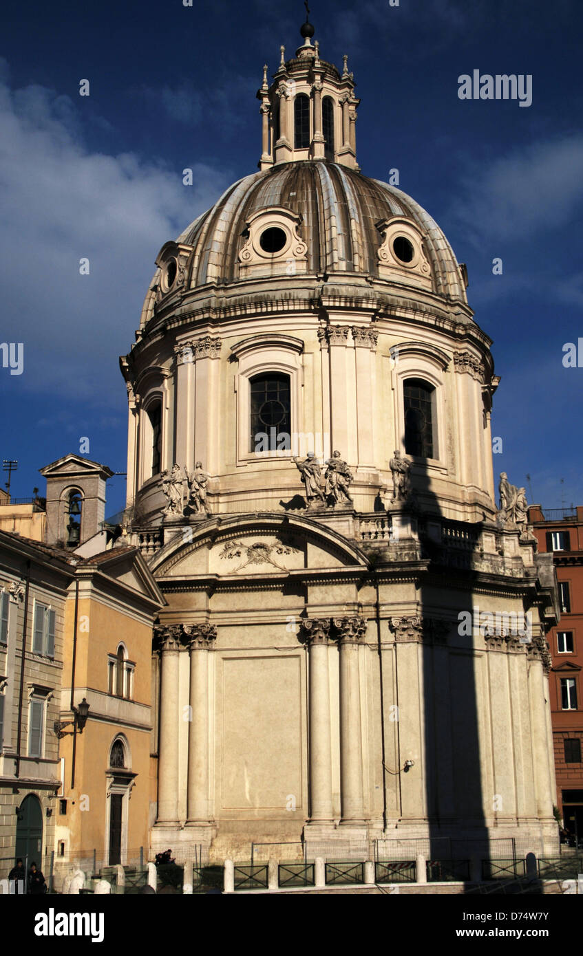 Italy. Rome. Church of the Most Holy Name of Mary. 18th century. Built by Antoine Derizet (1697-1768). - Stock Image