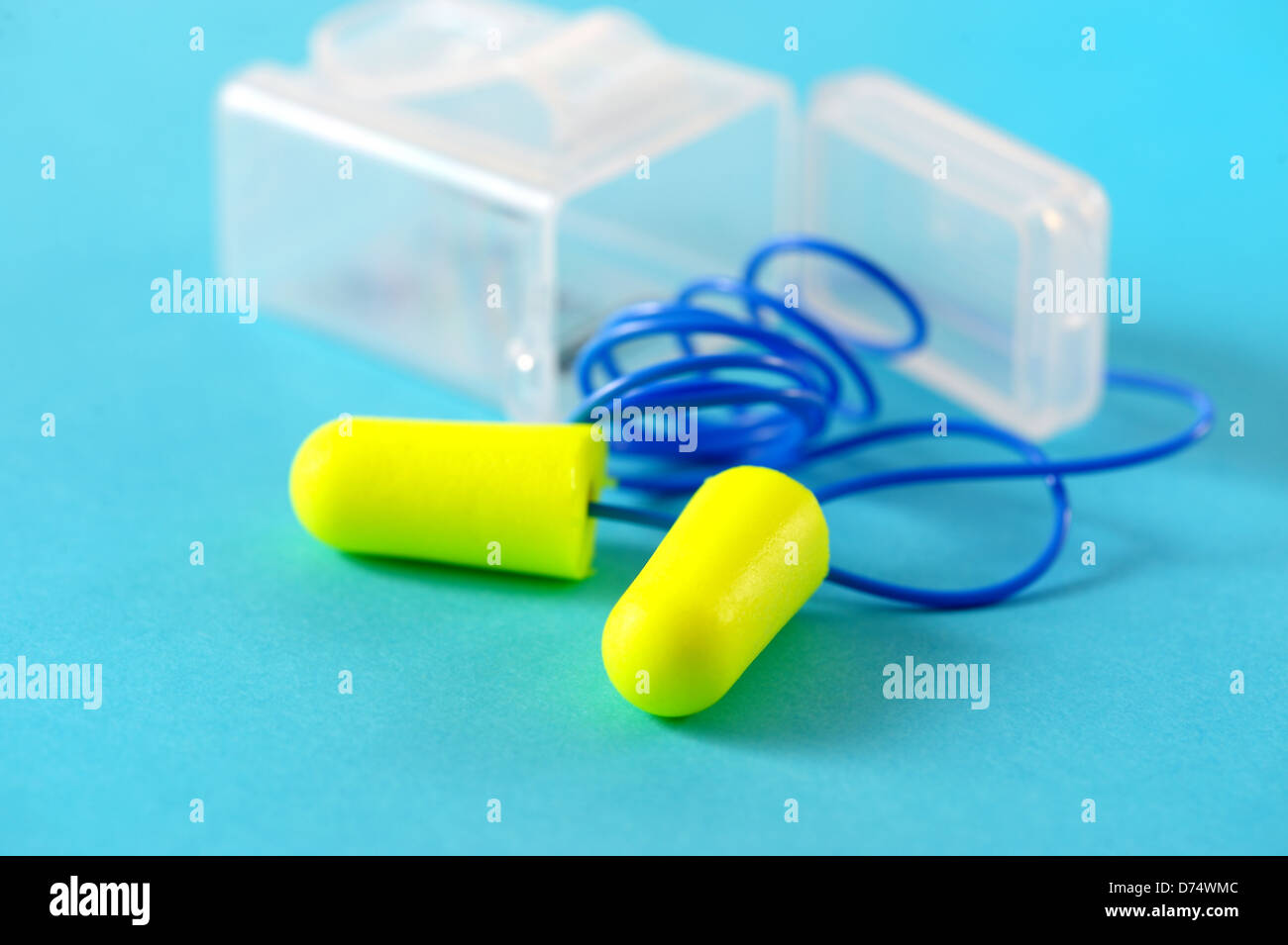 ear plug for industrial noise, hearing protection - Stock Image