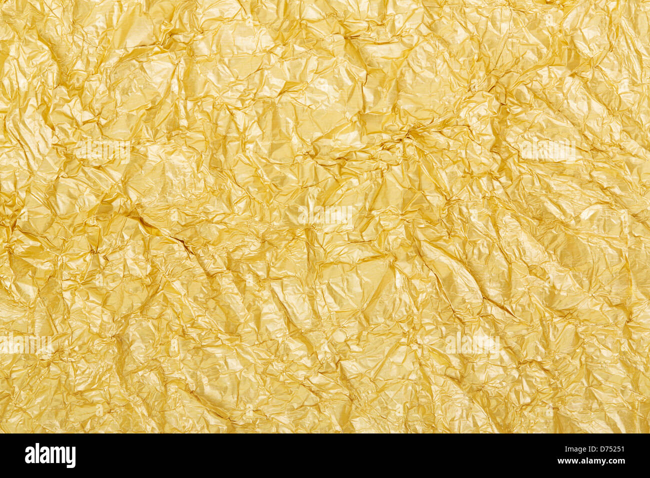 Gold foil background texture - Stock Image