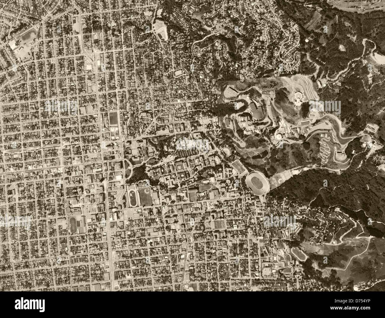 historical aerial photograph Berkeley, California, 1968 - Stock Image