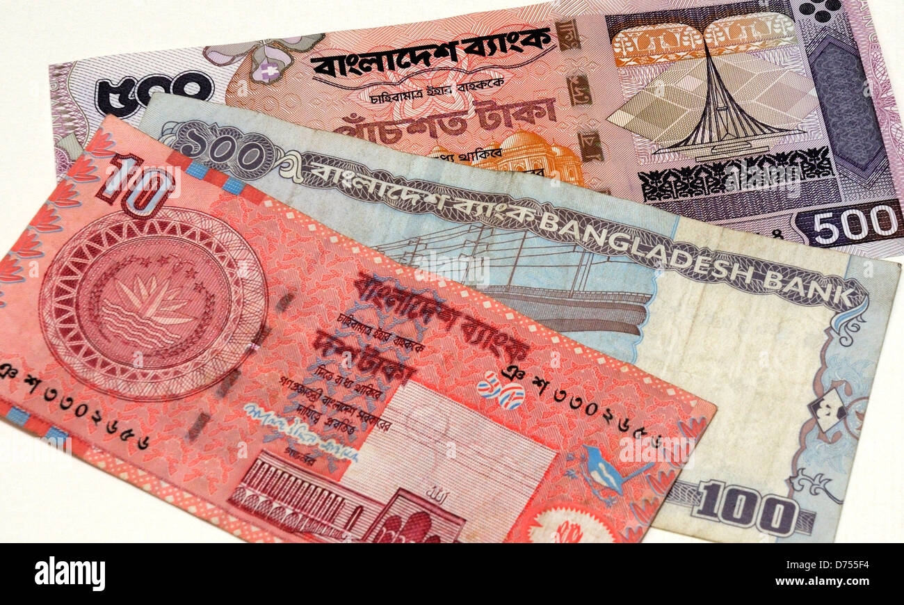 Bangladesh Taka Bank Notes - Stock Image