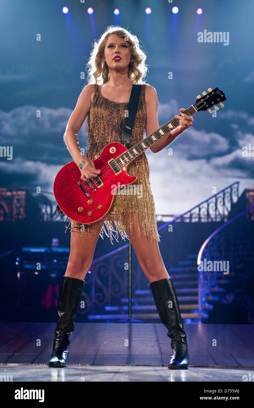 Taylor Swift Performs During The Speak Now World Tour 2011 At The Stock Photo Alamy