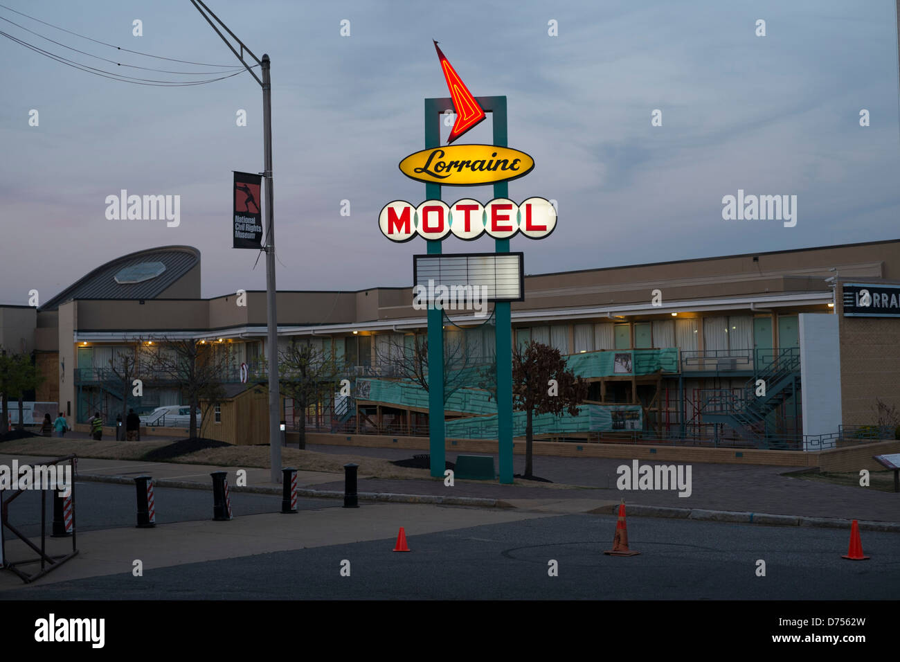 The Lorraine Motel, Memphis, USA where Dr Martin Luther King was killed. - Stock Image