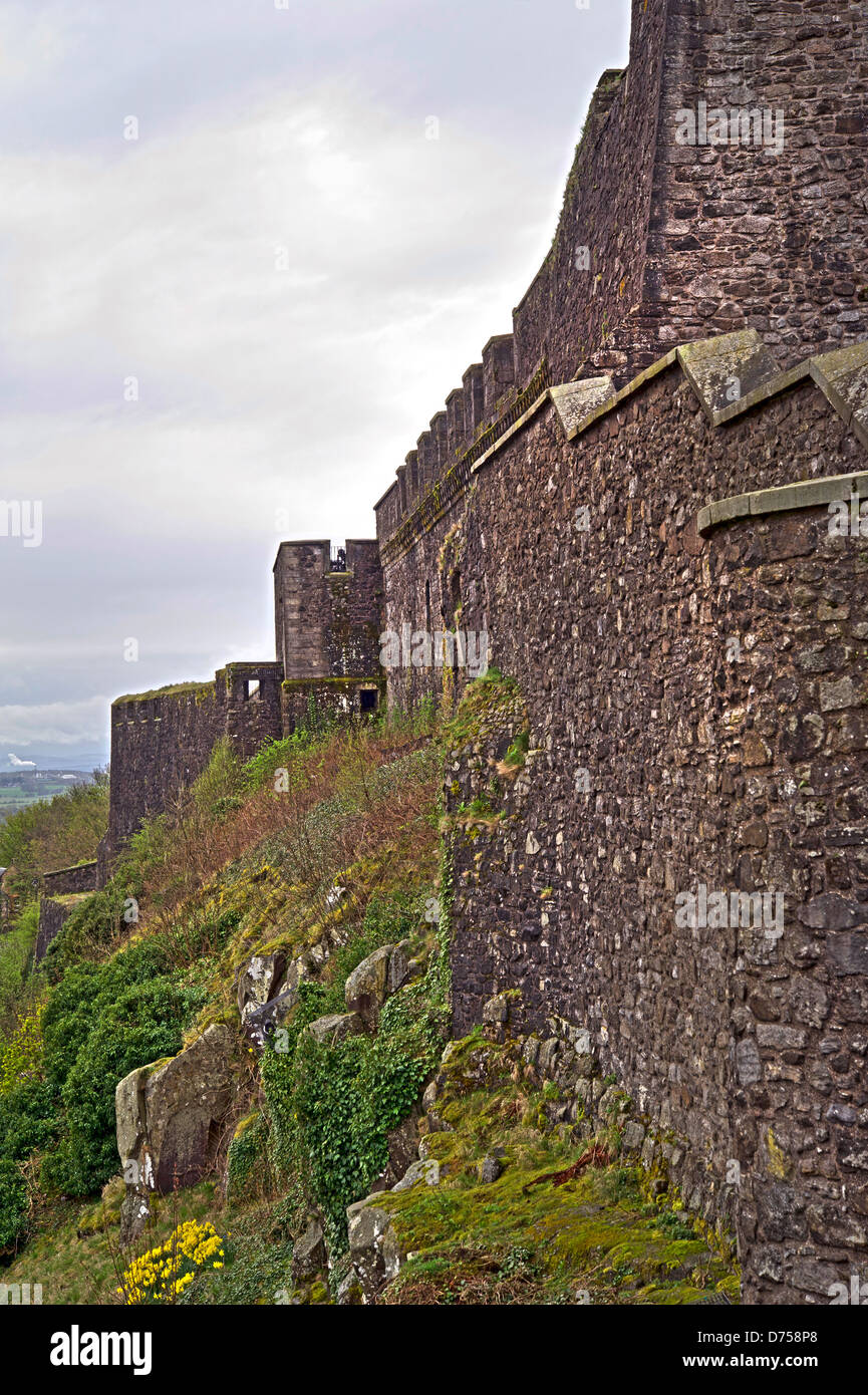 Walls of Stirling Castle, Scotland - Stock Image
