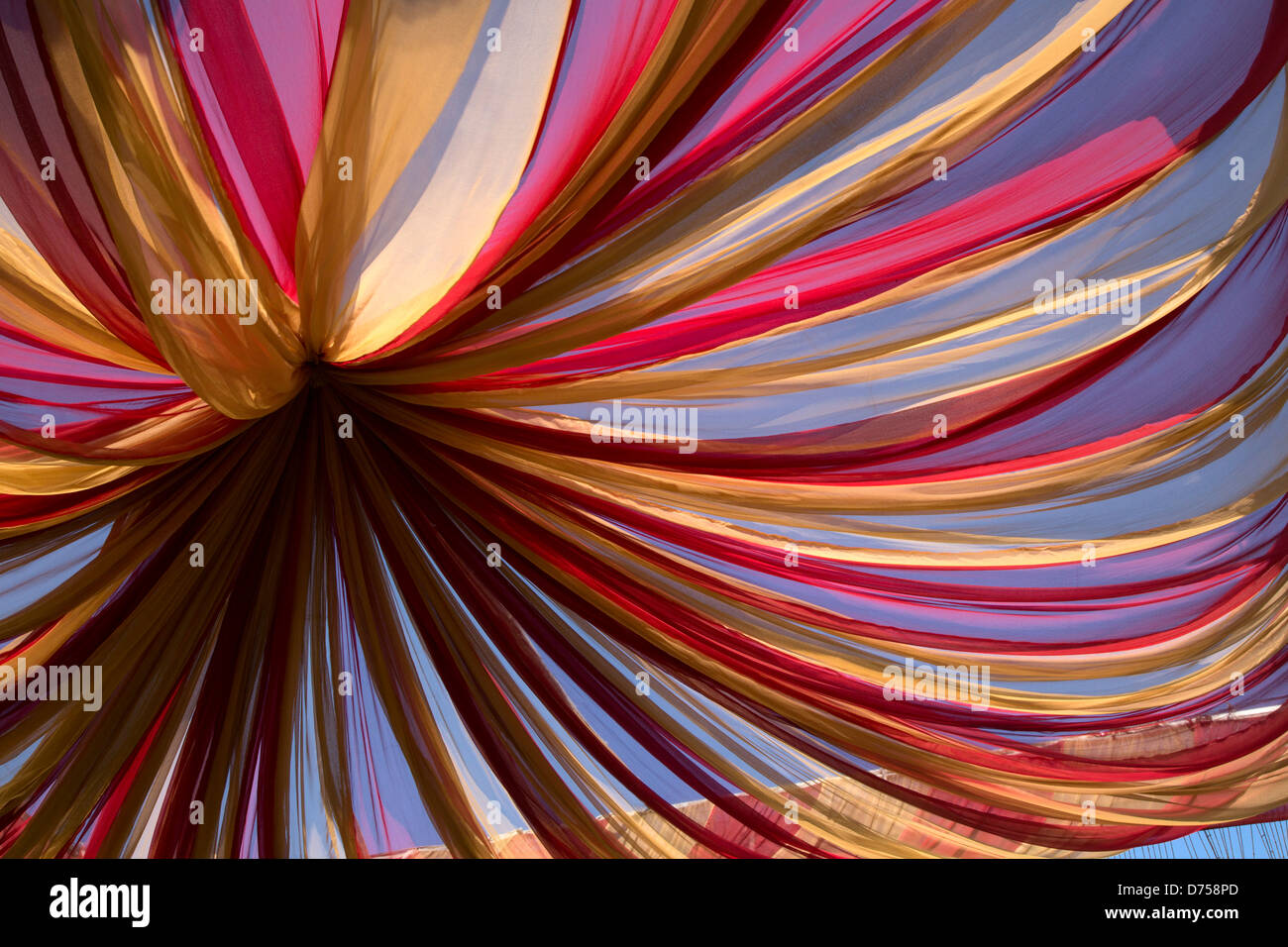 Decoration Of Traditional Indian Wedding Mandap Stock Photo