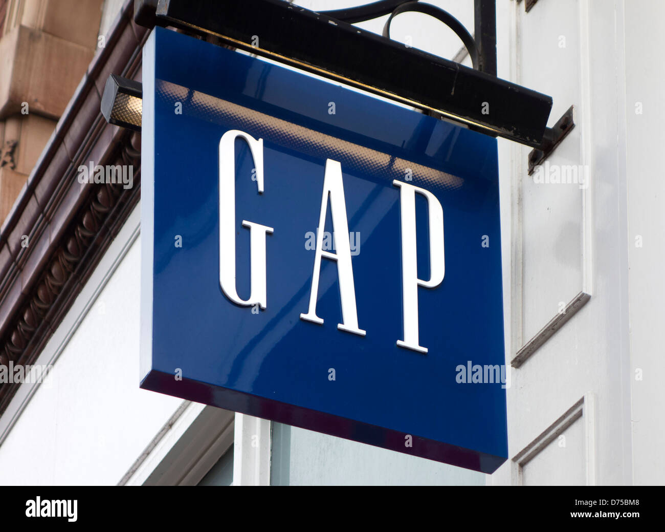 GAP store on Briggate, Leeds, West Yorkshire, UK - Stock Image
