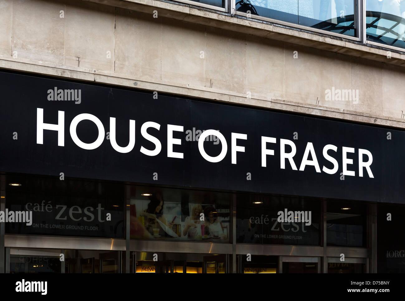 House of Fraser store on Briggate, Leeds, West Yorkshire, UK - Stock Image