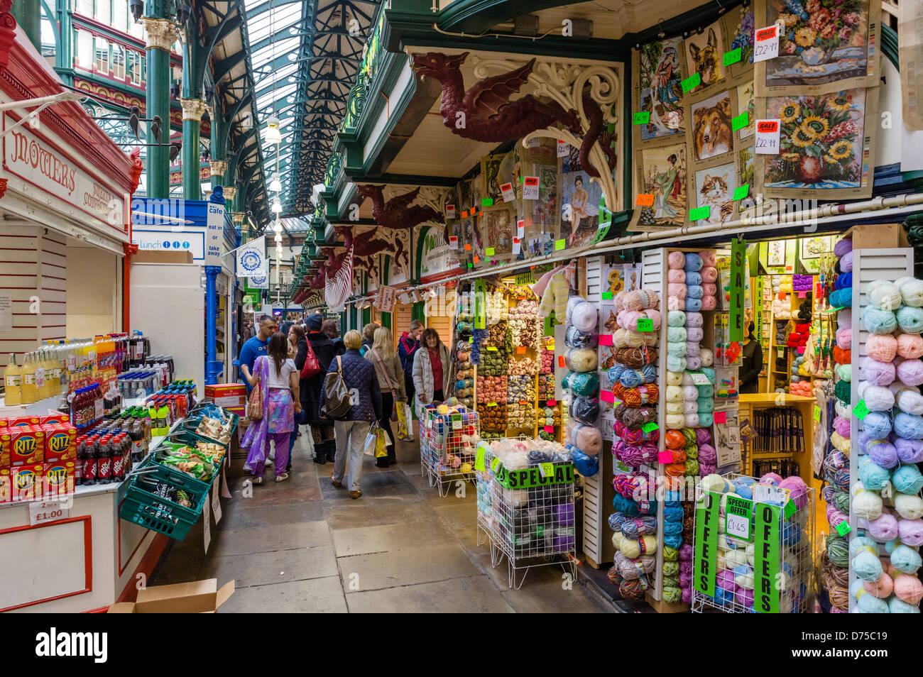 Kirkgate Market, Leeds, West Yorkshire, UK - Stock Image