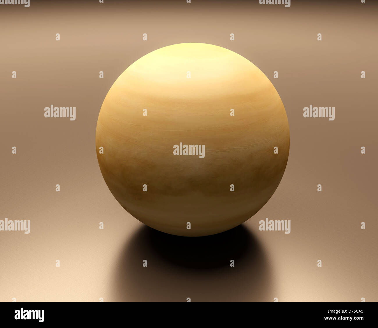 A rendered presentation of the planet Venus. - Stock Image