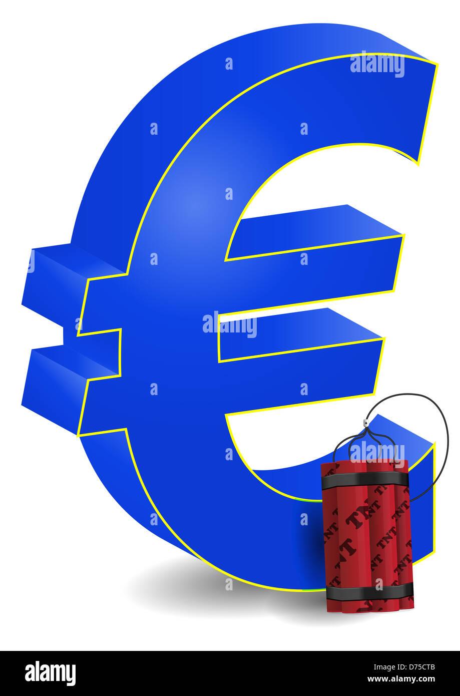 Illustration Of Euro Symbol With Dynamite Stock Photo 56053547 Alamy