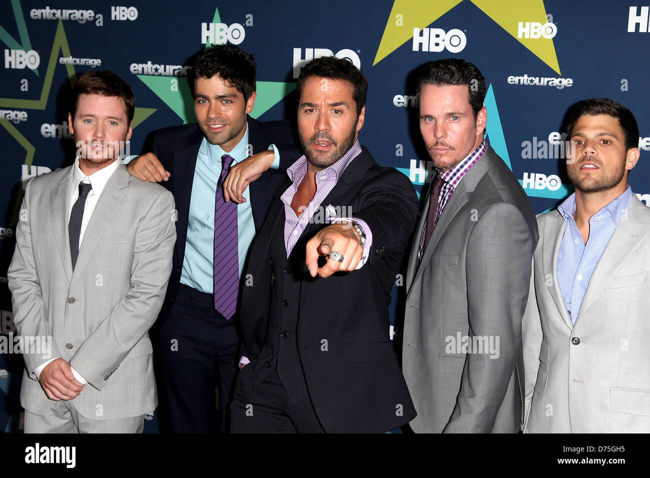 Kevin Connolly Adrian Grenier Jeremy Piven Kevin Dillon And Jerry Stock Photo Alamy