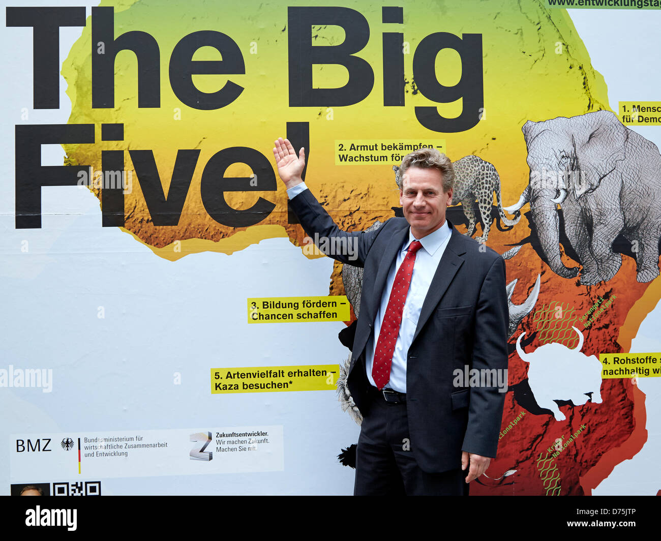Berlin, 29 April 2013. Start of the national campaign 'The Big Five' with Dirk Niebel. Dirk Niebel, Federal - Stock Image