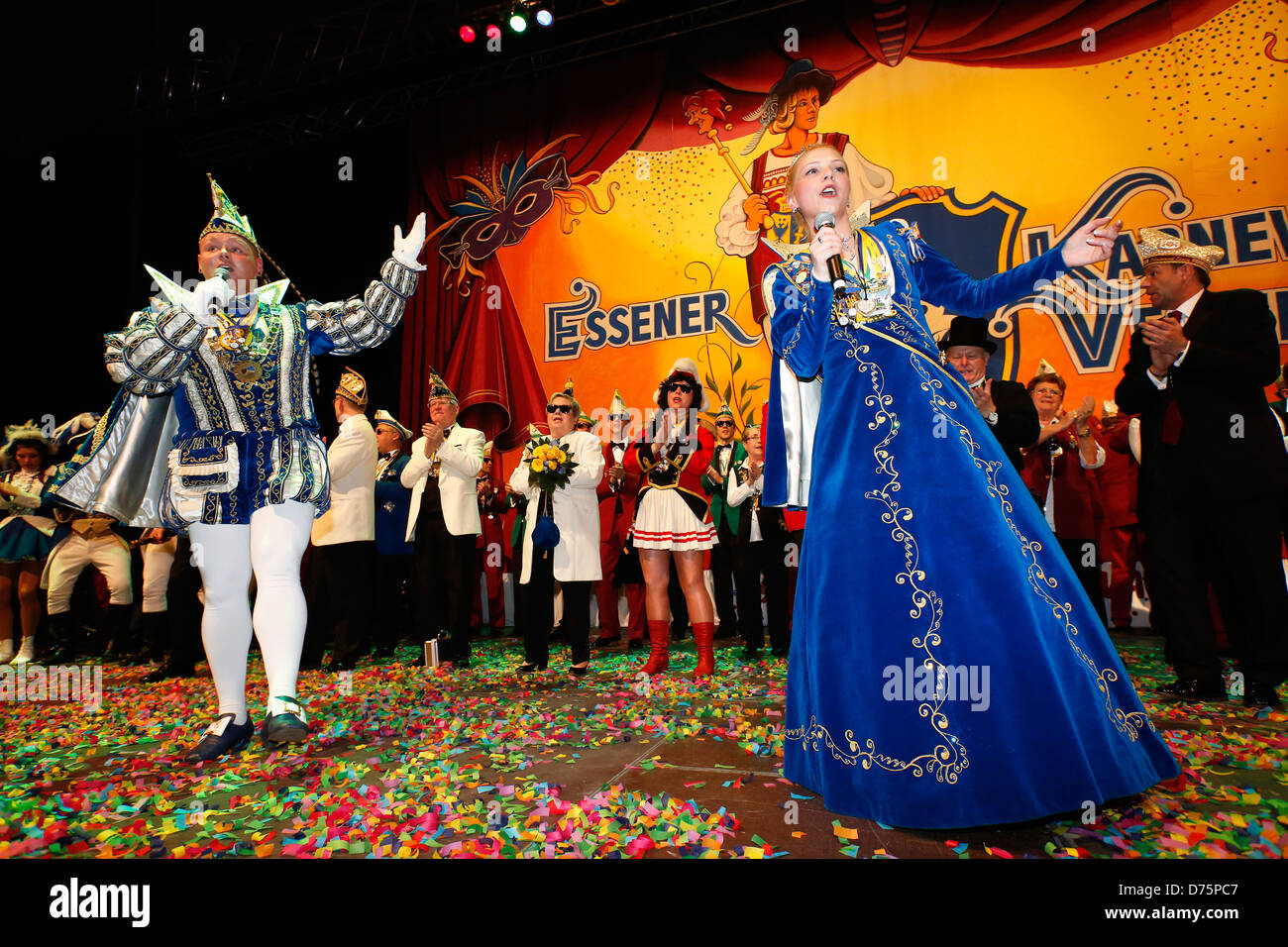 Essen, Germany, carnival in the Ruhr, Essen city royals - Stock Image