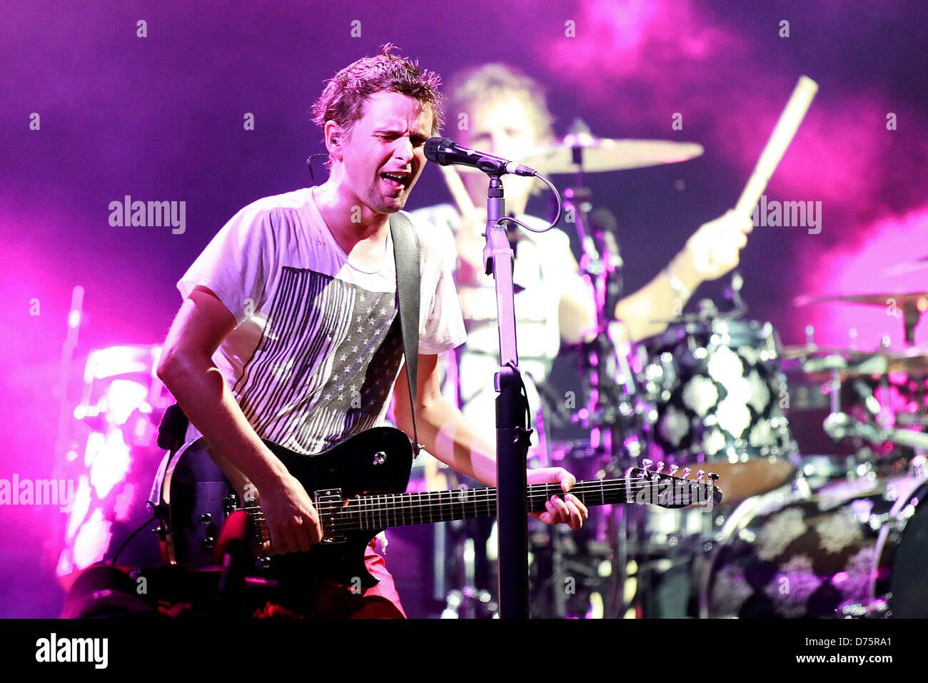 Matthew Bellamy of Muse Lollapalooza Music Festival 2011 - Performances - Day 1 Chicago, Illinois - 05.08.11 - Stock Image