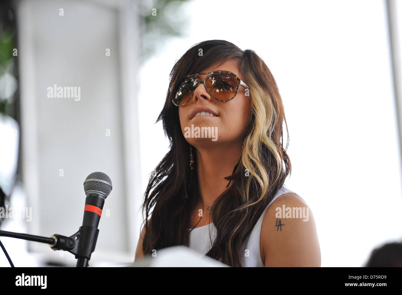 Christina Perri Lollapalooza Music Festival 2011 - Performances - Day 1 Chicago, Illinois - 05.08.11 - Stock Image