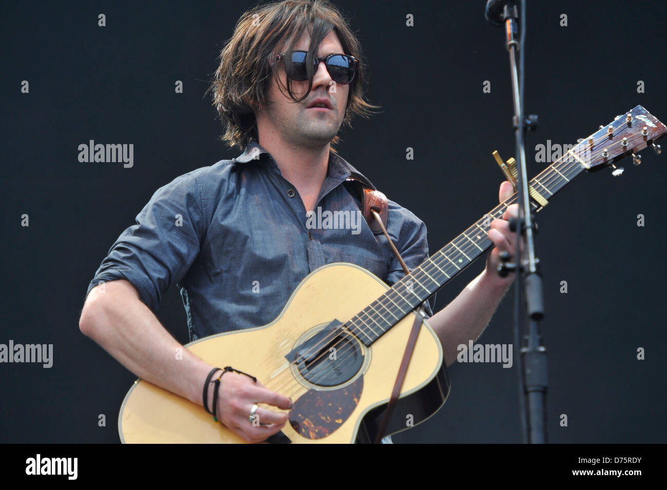 Conor Oberst of Bright Eyes Lollapalooza Music Festival 2011 - Performances - Day 1 Chicago, Illinois - 05.08.11 - Stock Image