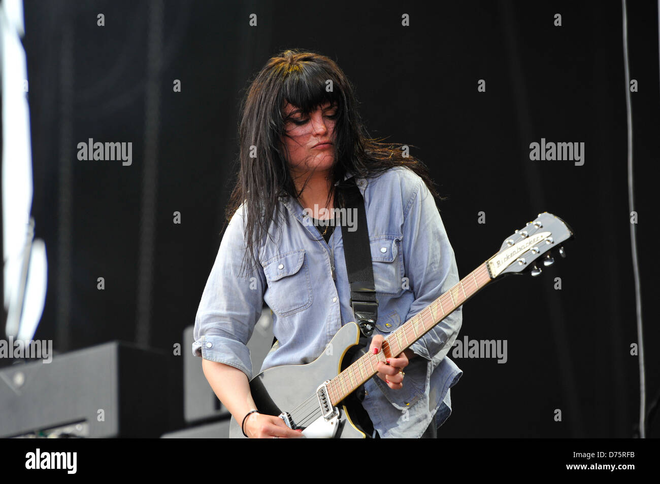Alison Mosshart of The Kills Lollapalooza Music Festival 2011 - Performances - Day 1 Chicago, Illinois - 05.08.11 - Stock Image