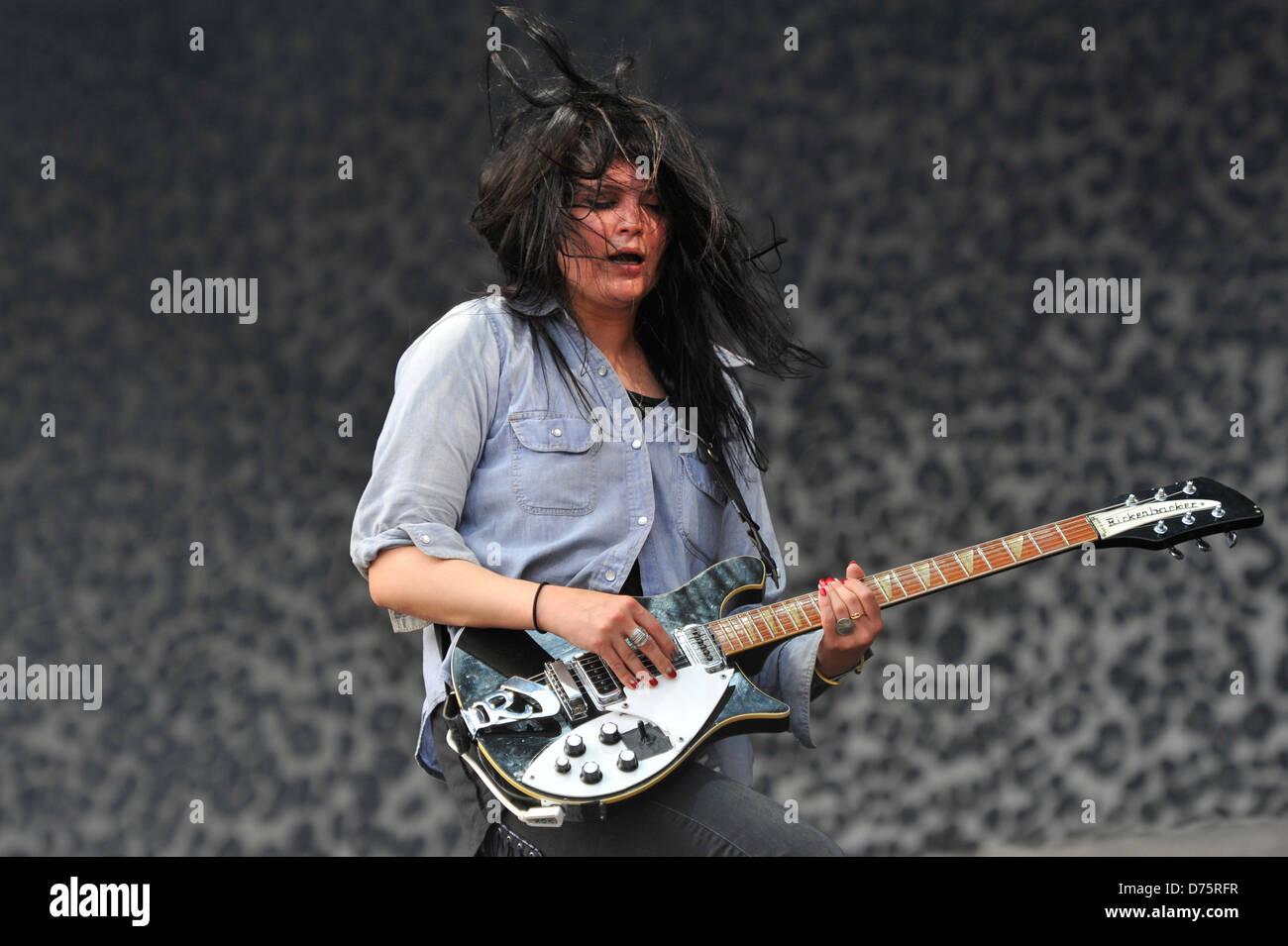 Alison Mosshart of The Kills Lollapalooza Music Festival 2011 - Performances - Day 1 Chicago, Illinois - 05.08.11 - Stock Image
