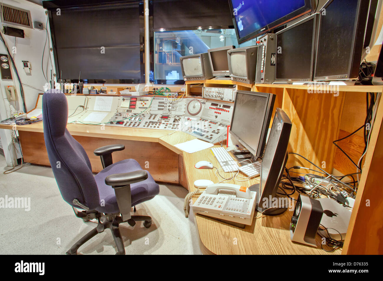 Control room, Mayall 4-Meter optical telescope. - Stock Image
