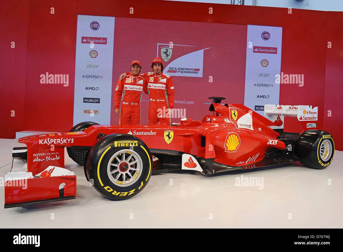 Fernando Alonso, Felipe Massa F1   Formula One   Ferrari Team And Car  Presentation