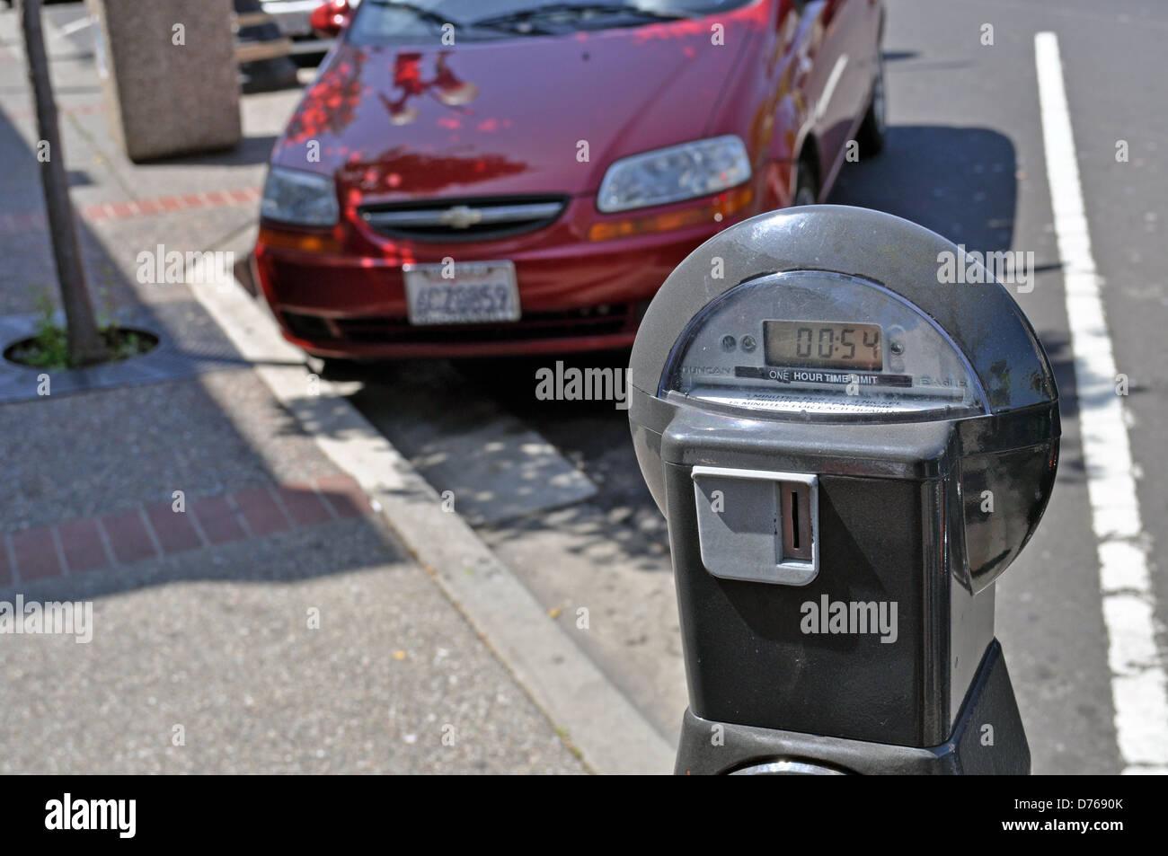 Digital Parking meter South San Francisco, California, USA - Stock Image