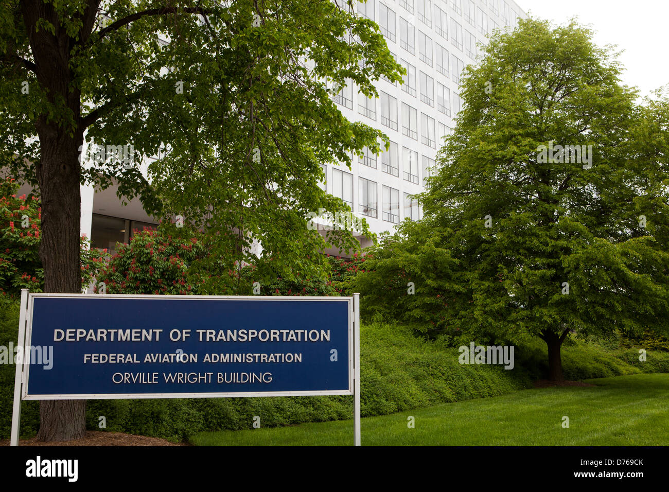US Federal Aviation Administration headquarters building - Washington, DC USA - Stock Image
