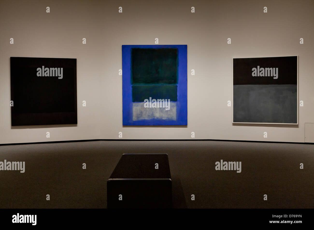 Mark Rothko paintings on display - USA - Stock Image