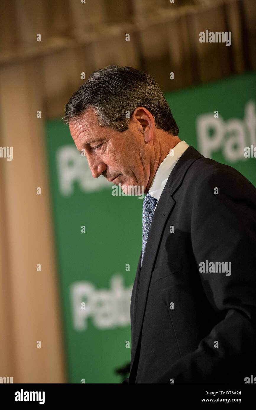 Former South Carolina Gov. Mark Sanford, the Republican candidate for the open Congressional seat, makes a point - Stock Image
