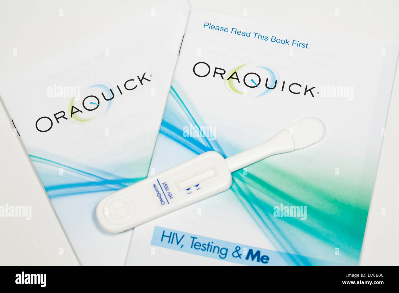 An Oraquick in-home HIV testing kit Stock Photo: 56074044
