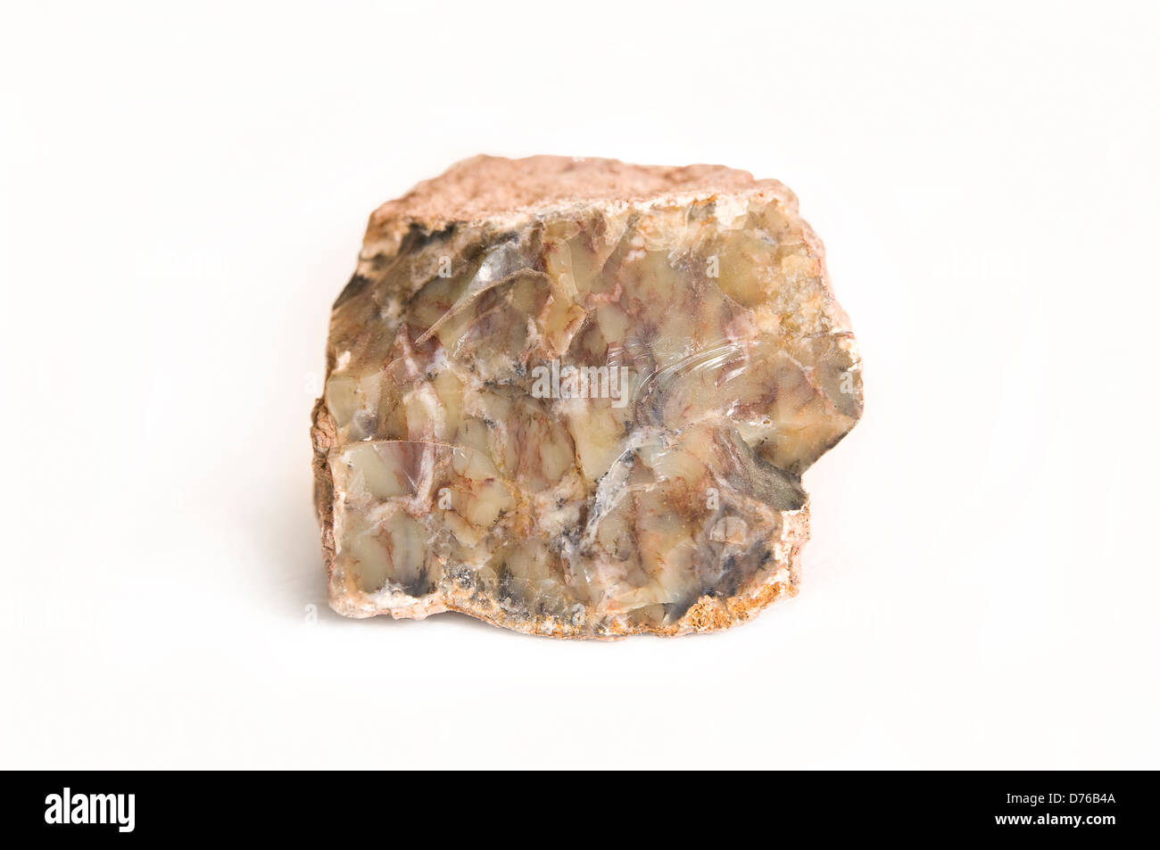 Quartz, marble matrix - Stock Image