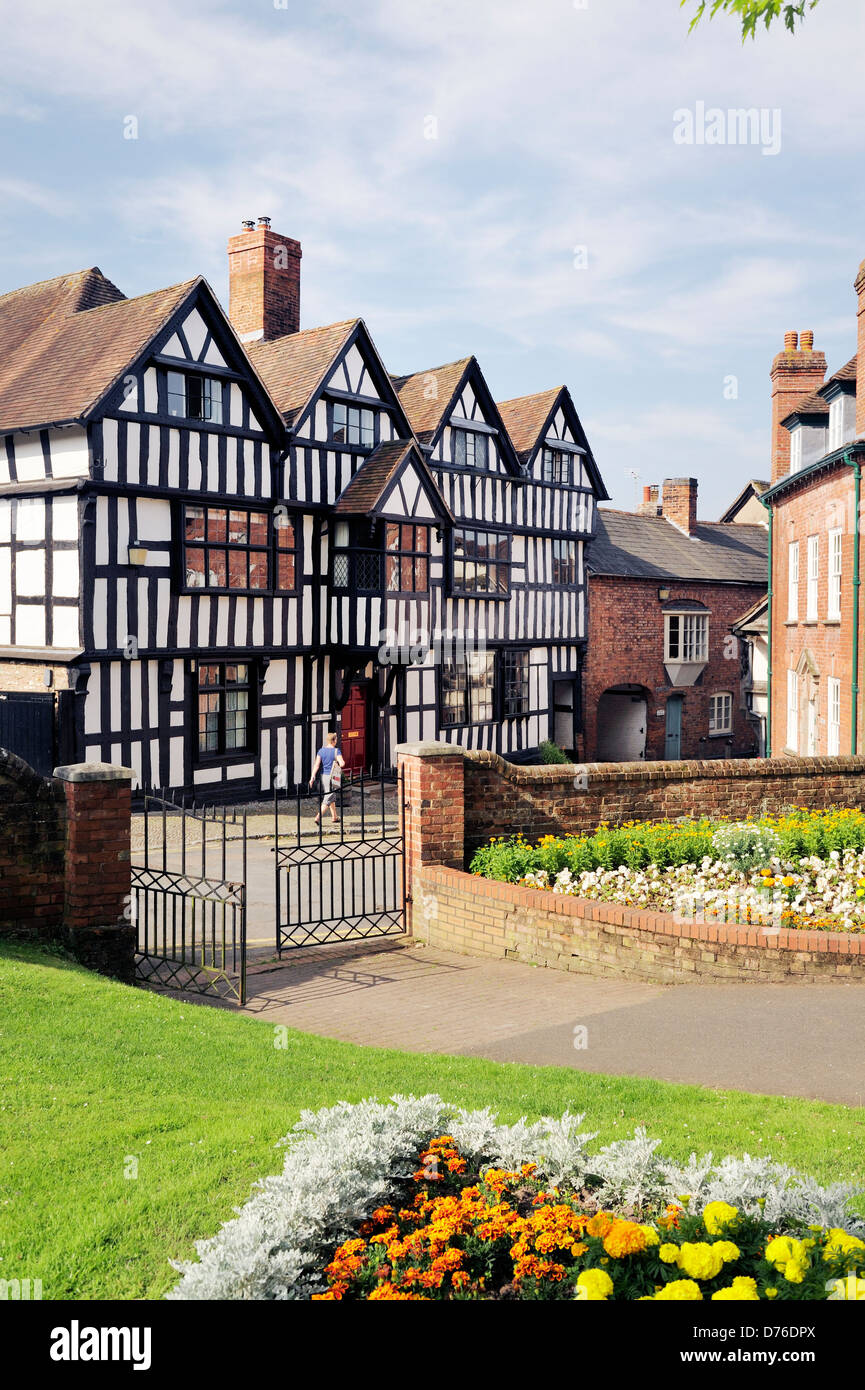 Elizabethan Tudor timber frame Church House on Church Lane, in the town of Ledbury, Herefordshire, England, dates - Stock Image