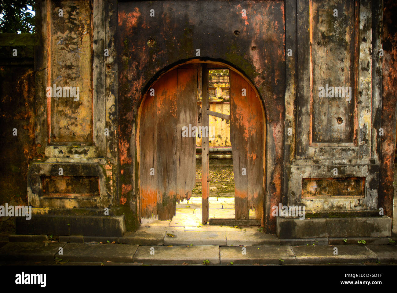 Dilapidated Entrance - Stock Image